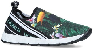 Dolce & Gabbana Kids Paul Toucan Print Slip-On Sneakers