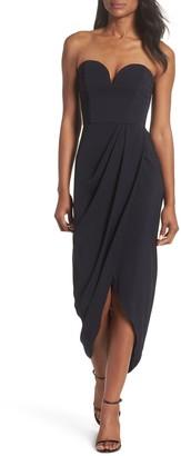 Shona Joy Strapless Tulip Hem Dress