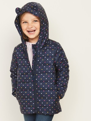 Old Navy Hooded Packable Polka-Dot Puffer Jacket for Toddler Girls