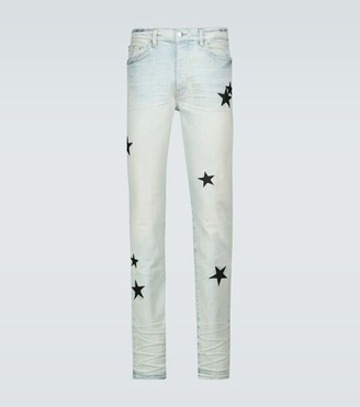 Amiri Leather Star stack jeans