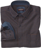 Johnston & Murphy Windowpane Brushed-Cotton Button-Collar Shirt