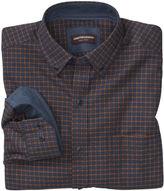 Johnston & Murphy Windowpane Brushed-Cotton Button-Collar Shirt