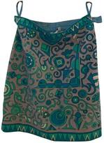 Emilio Pucci Grey Velvet Skirt for Women Vintage