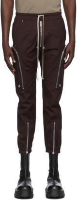 Rick Owens Burgundy Bauhaus Cargo Pants