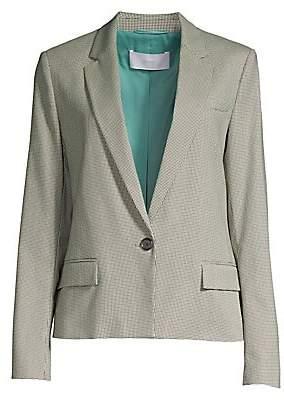 BOSS Women's Jasaela Wool-Blend One-Button Houndstooth Jacket