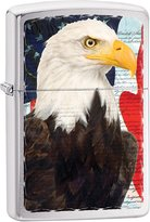 Zippo USA Flag and Eagle Outdoor Indoor Windproof Lighter Free Custom Personalized Engraved Message Permanent Lifetime Engraving on Backside