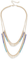 INC International Concepts Robert Rose for Gold-Tone Multi-Bead Double Row Necklace, Created for Macy's
