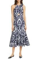 Rebecca Taylor Ikat Sleeveless Midi Dress