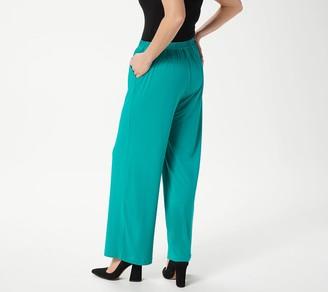Bob Mackie Regular Wide-Leg Knit Pants with Pockets