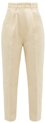 Hillier Bartley High Rise Brushed Cotton Twill Jeans - Womens - Cream