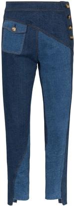REJINA PYO Lucie patchwork skinny jeans