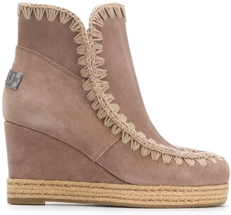 Mou Wedge Heel Ankle Boots