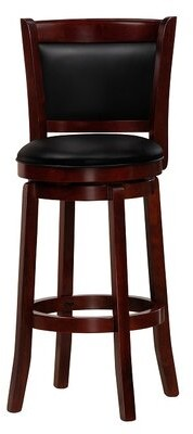 """Mintra Chandler Swivel Bar & Counter Stool Color: Cherry, Seat Height: Bar Stool (30"""" Seat Height)"""