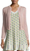 M Missoni Solid Metallic Mesh Cardigan