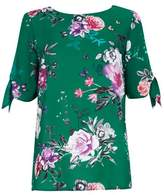 Wallis Green Floral Print Shell Top