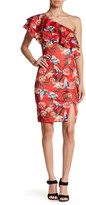 Alexia Admor Ruffle One Shoulder Floral Dress