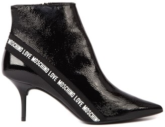 Love Moschino Black Patent Ankle Boot