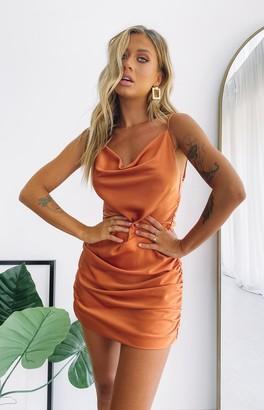 Beginning Boutique Extinguish Party Dress Rust