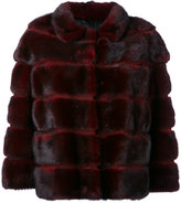 Simonetta Ravizza stripe detail jacket - women - Silk/Mink Fur - 40