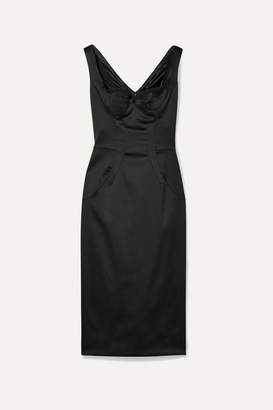 Dolce & Gabbana Stretch-satin Dress - Black