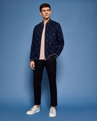 Ted Baker Tropical Print Bomber Jacket