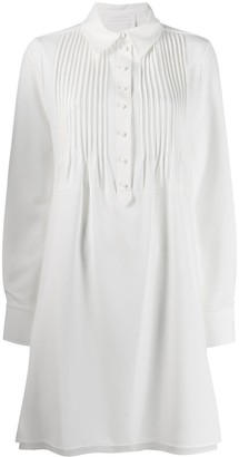 See by Chloe Pleated-Placket Shirt Dress