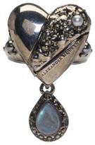 Alexander McQueen Silver Heart Locket Ring