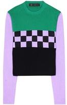 Versace Printed cotton top