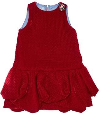 Mi Mi Sol Embellished Velvet Party Dress