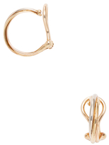 Cartier Vintage Trinity Thin 18K Tri-Color Gold Small Hoop Earrings