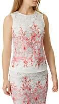 Damsel in a Dress Amily Top, Raspberry/Multi