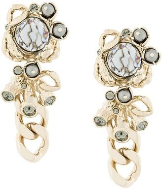 Koché Abstract Chain Drop Earrings