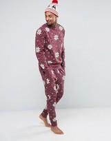 Asos Christmas Skinny Jogger With Snowflake Print