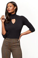 New York & Co. 7th Avenue Sweater Collection - Keyhole Turtleneck Sweater