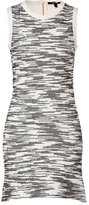 Derek Lam Cotton Blend Flared Dress in Black/White