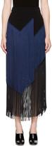 Stella McCartney Black and Navy Veronica Fringe Skirt