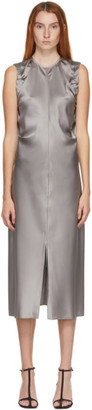 Helmut Lang SSENSE Exclusive Grey Ruched Armhole Long Dress