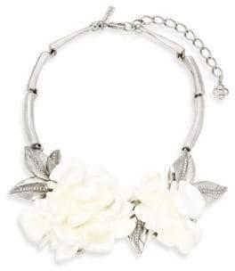 Oscar de la Renta Floral Statement Necklace
