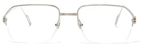 Cartier Eyewear - Premiere De Square-frame Metal Glasses - Mens - Silver