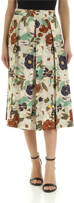 Ballantyne Printed Silk Skirt