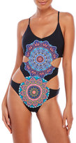 Red Carter Montezuma Monokini Swimsuit