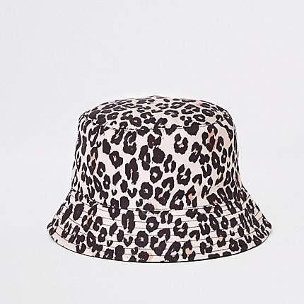 9e14f515f Mini girls leopard reversible bucket hat
