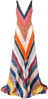Altuzarra Ellsworth chevron patchwork gown