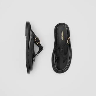 Burberry Patent Leather T-bar Mules