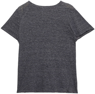 Enza Costa Striped Cotton-jersey T-shirt