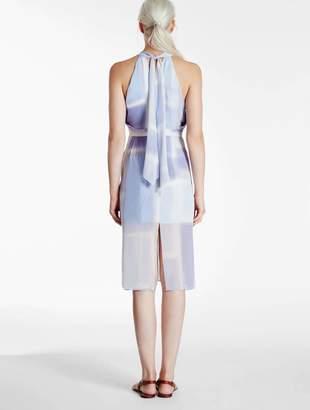 Halston Printed Silk Georgette Dress