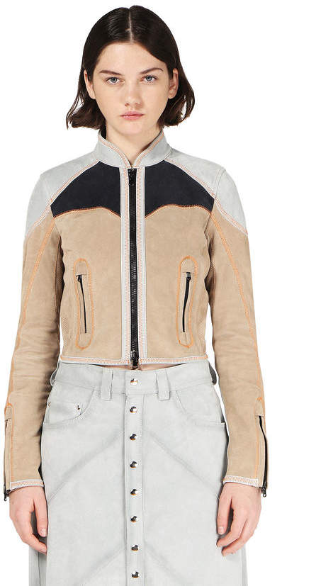 Diesel Black Gold Diesel Leather jackets BGPTI - Beige - 38