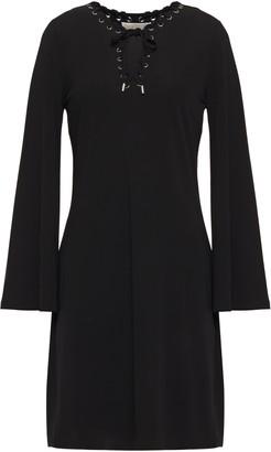 MICHAEL Michael Kors Lace-up Stretch-jersey Dress