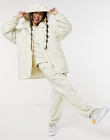 Thumbnail for your product : Weekday Byron jacket with detatchable hood in cream