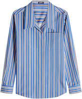 Jil Sander Navy Striped Cotton Shirt